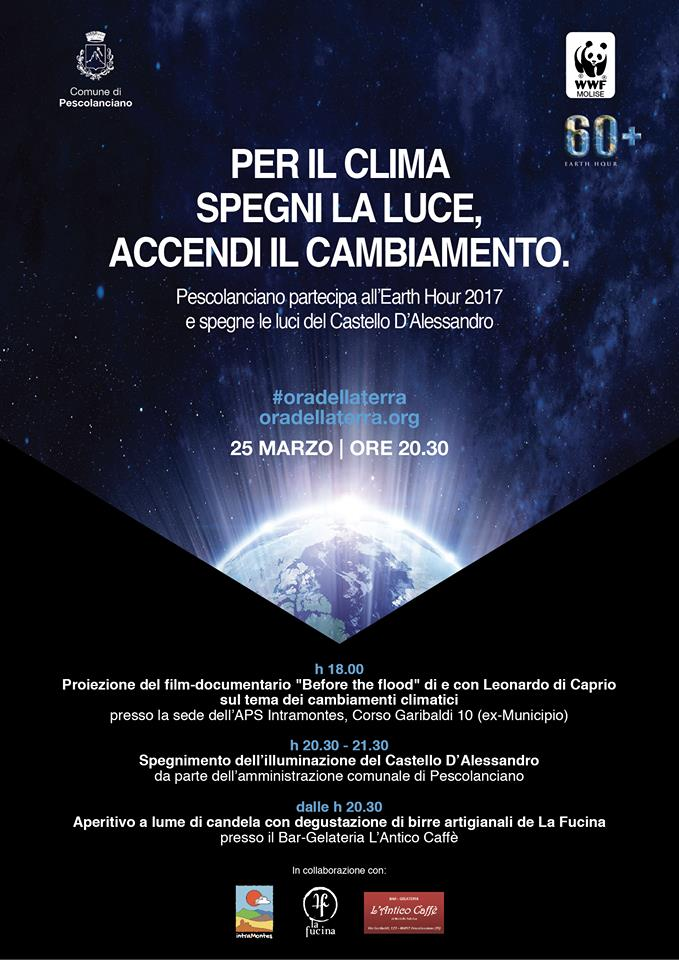 Earth Hour 2017 Pescolanciano